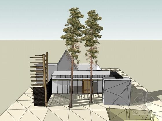 时尚清新建筑SketchUp模型下载
