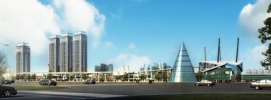 现代风格国际汽车中心设计效果图