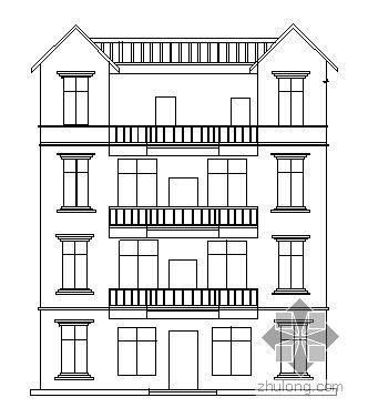 某四层私人住宅楼建筑方案图