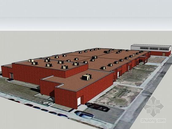 厂房建筑SketchUp模型下载