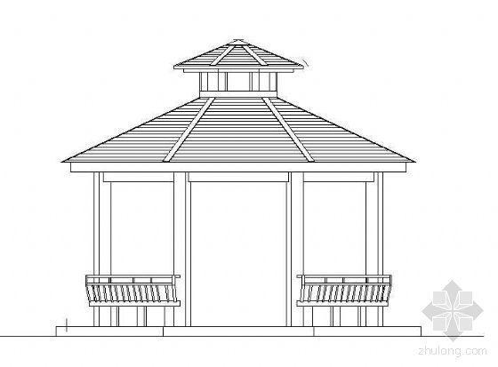 木结构八角亭施工详图