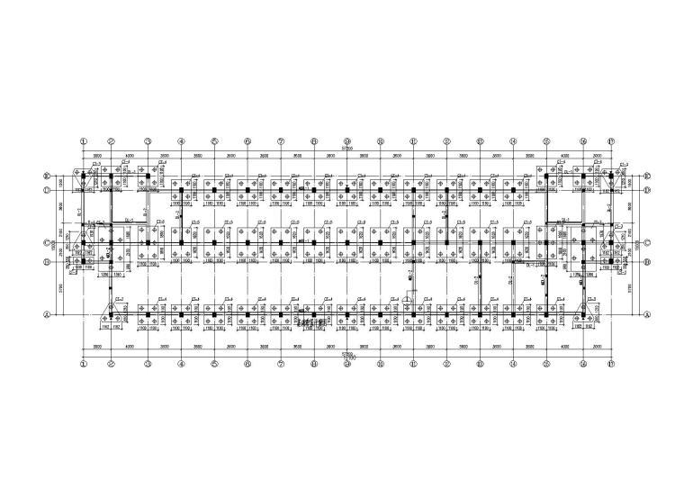 [浙江]4层框架结构宿舍楼结构施工图(2010)
