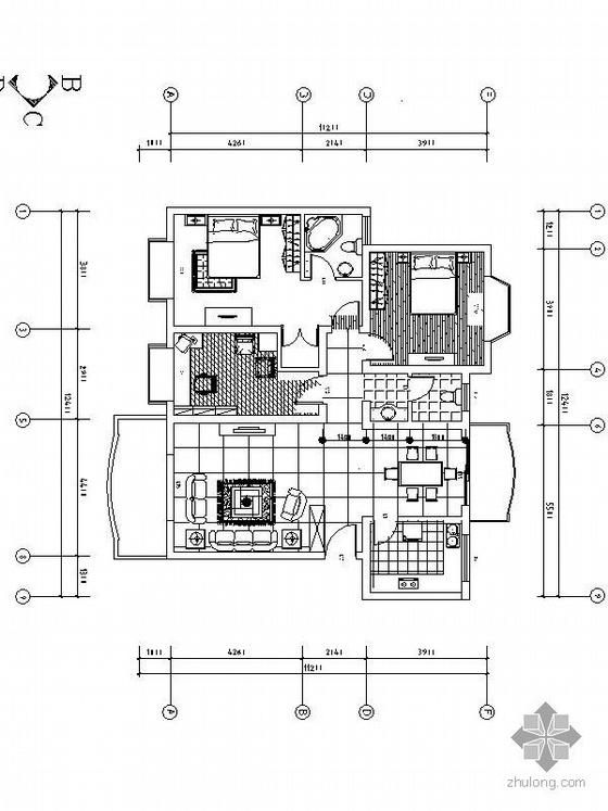 三室两厅设计方案图(含效果)