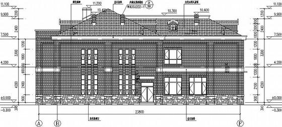 两层坡屋顶框架别墅结构施工图(全套)