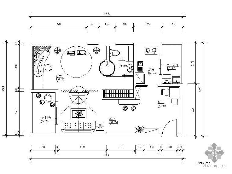 某单身公寓室内毕业设计
