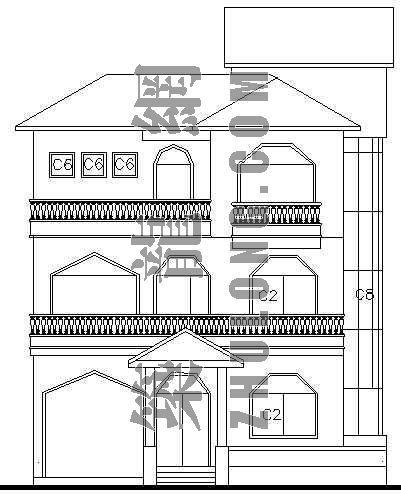 某别墅建筑、结构施工图