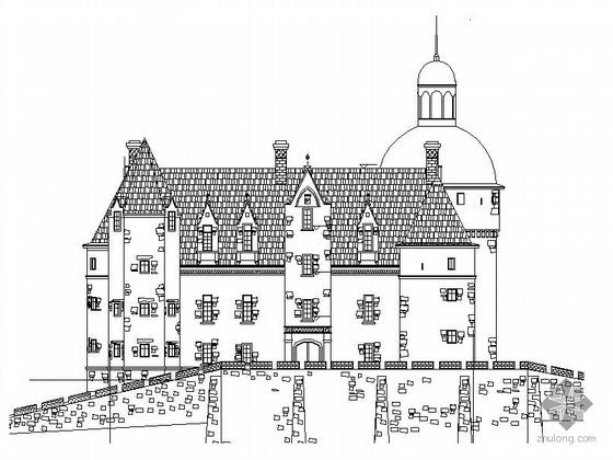 某三层法式别墅建筑施工图