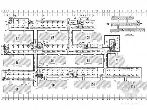 [江苏]地下汽车库建筑通风系统设计施工图
