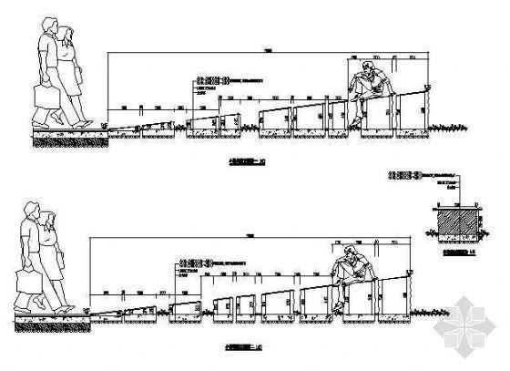 某小区小景墙做法详图-4
