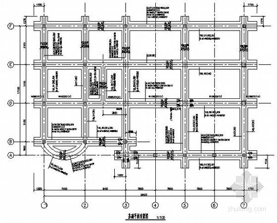 三层框架结构小型办公楼CAD全套施工图(含效果图)