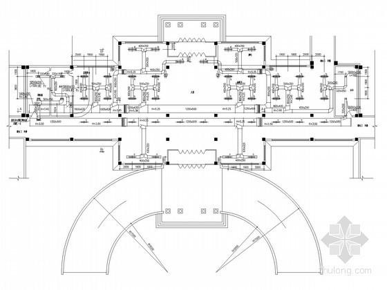 [北京]商业综合体暖通空调系统及动力站设计施工图(锅炉工艺系统 系统流程图多)