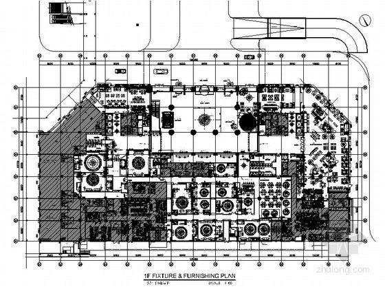 [广州]白云新城全球连锁豪华五星级酒店装修施工图(含实景)