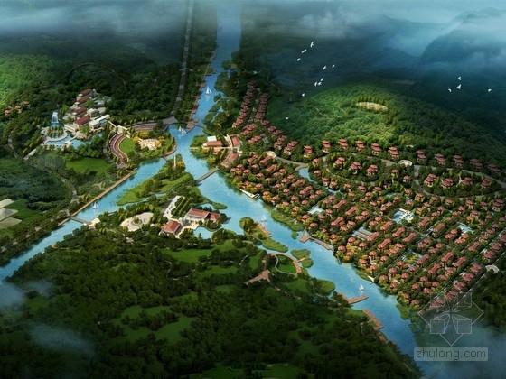[江苏]现代中式风格汉文化度假田园山庄设计方案文本