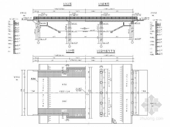 3x16m现浇变宽度钢筋混凝土连续板桥设计套图(35张)