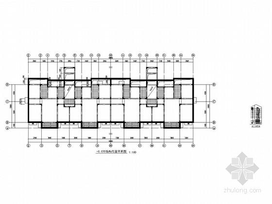 [山东]地上6+1层异形柱框架结构安置楼房结构施工图(含阁楼)