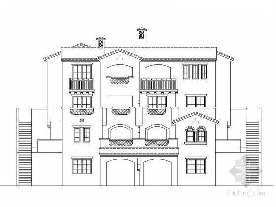 [重庆]某四层西班牙式BE型花园洋房建筑施工图(含建筑节能模型)