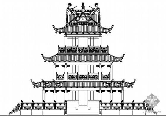 [张家港市]某公园仿古建筑施工图