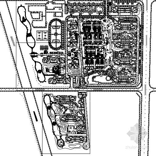 [河北石家庄]现代滨水休闲住宅区园林景观工程施工图