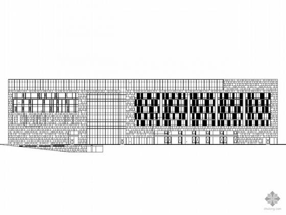[深圳市中心区]某城市规划七层大厦建筑施工图(含幕墙设计)