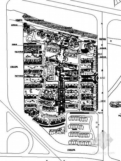 [宁波]居住区环境景观设计施工图