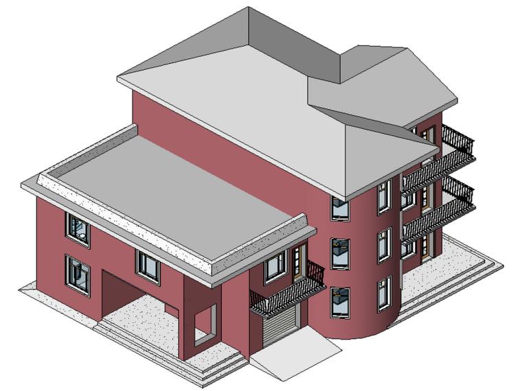 BIM模型-revit模型-三层小别墅模型