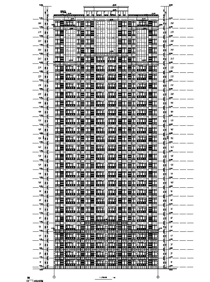 [安徽]高层框架结构多栋全专业住宅建筑施工图