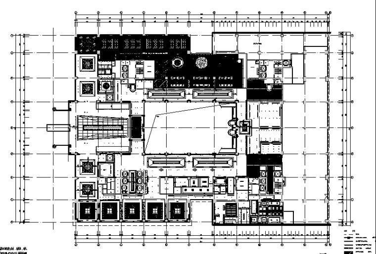 23000平米酒店空间设计施工图(附效果图+材料表)_2