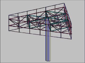 三面广告牌施工图8m×24m