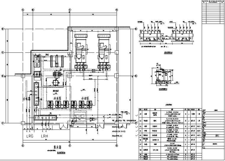 采暖管网施工图资料下载-某商业建筑暖通施工图(含采暖、通风、空调系统及平面,制冷机房、锅炉房详图等)
