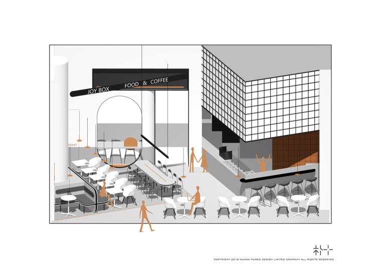 武汉逆时针旋转的盒里轻食餐厅剖面图(16)