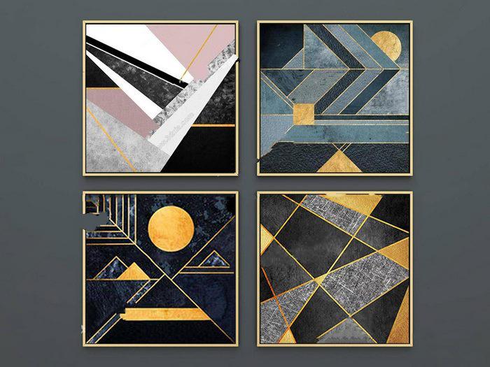 现代简约几何图案装饰画_1
