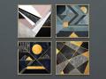 现代简约几何图案装饰画