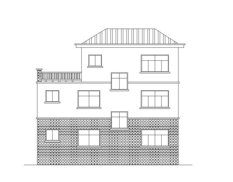 [广东]小型别墅建筑别墅施工图设计