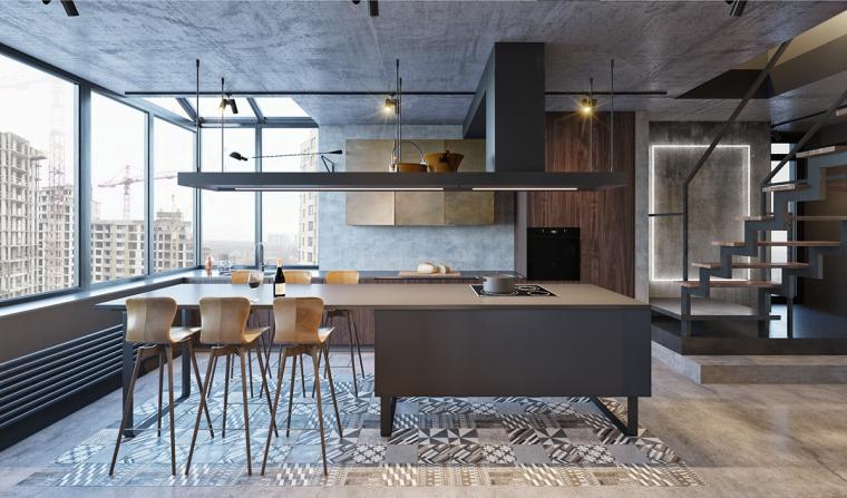 基辅工业风公寓:将厚重与轻盈完美平衡_4