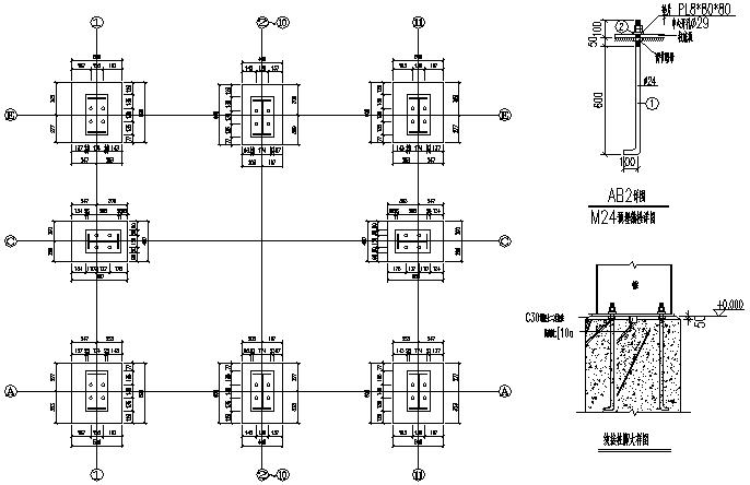 单跨门式刚架钢结构工程厂房施工图(CAD,12张)_4