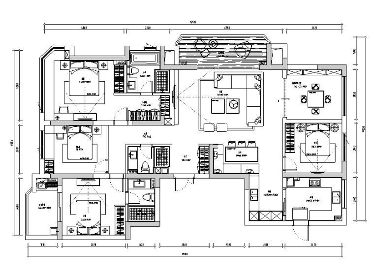 现代龙湖春江彼岸住宅设计施工图(附效果图)