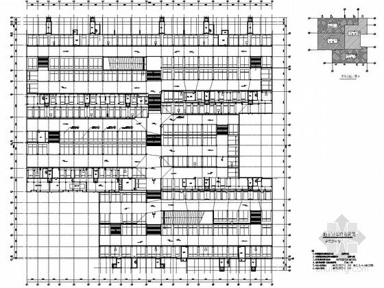 单层框剪结构地下车库建筑及结构图(15000平)