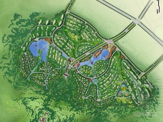 [成都]巴蜀山水文化休闲养生城区景观规划设计方案