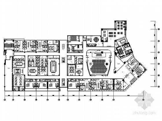 [深圳]居民住宅管理现代办公室装修施工图(含效果)