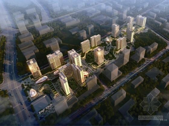 [贵阳]都市绿谷高层商办综合体建筑设计方案文本