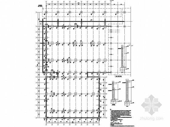 [新疆]知名食品有限公司基地单层钢结构厂房结构图