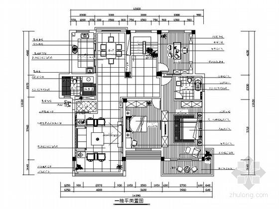 [绍兴]黄金地带时尚现代跃层公寓装修设计施工图