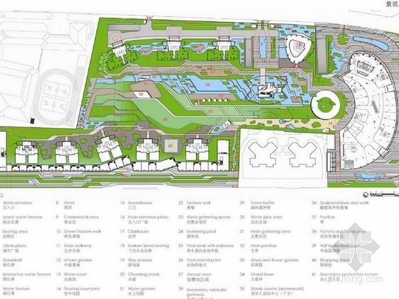 [上海]著名地产项目综合商业区总体景观规划设计方案