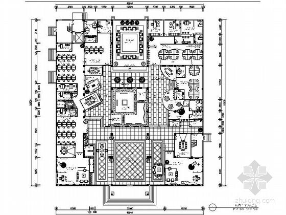 [温州]设计工作室设计简欧风格商业办公空间施工图(含效果图)