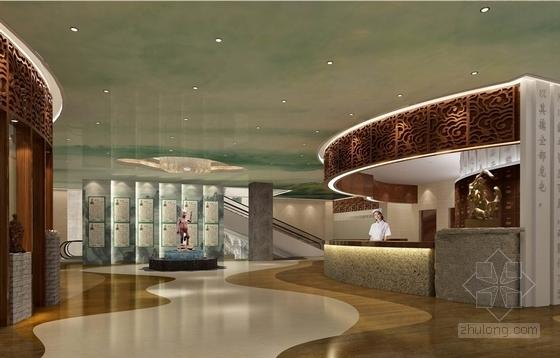 [北京]原创综合医药研究院典雅中式医院装修施工图(含效果)二层角度