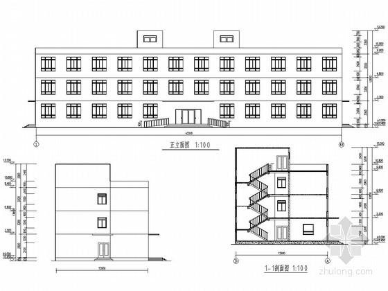 [学士]四层砌体结构课程设计图纸(含计算书)