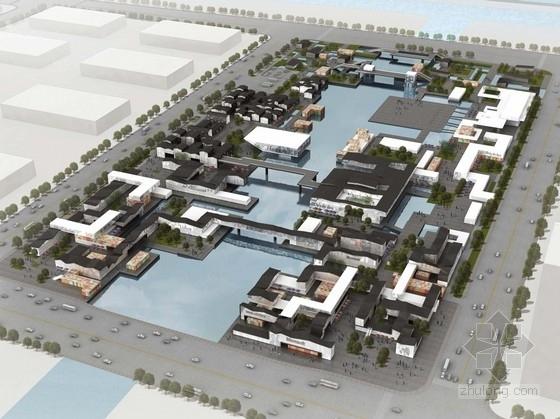 [江苏]水域枢纽地块多元化商业综合体设计方案文本(大型商业步行街)