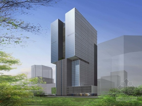 [广东]超高层知名地产办公楼设计方案文本(知名事务所)