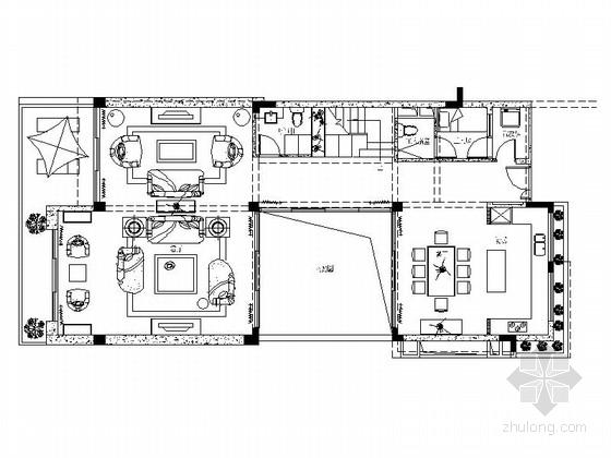 [深圳]三层现代风格别墅室内设计装修CAD图纸