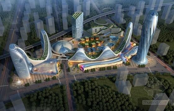 [贵州]250米自然生态大型城市综合体建筑设计方案文本(多层绿化、空中绿化)